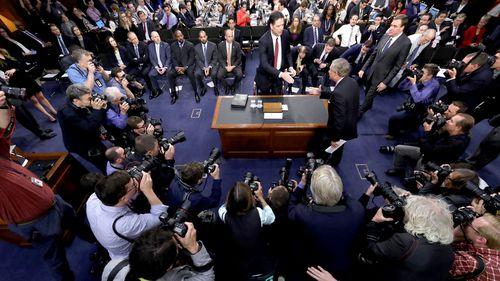 Media packs into the senate hearing. (AAP)