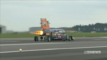 First public trial for supersonic car