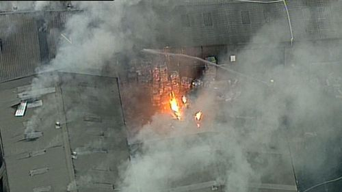 It's not yet known what sparked the Smithfield fire. Picture: 9NEWS