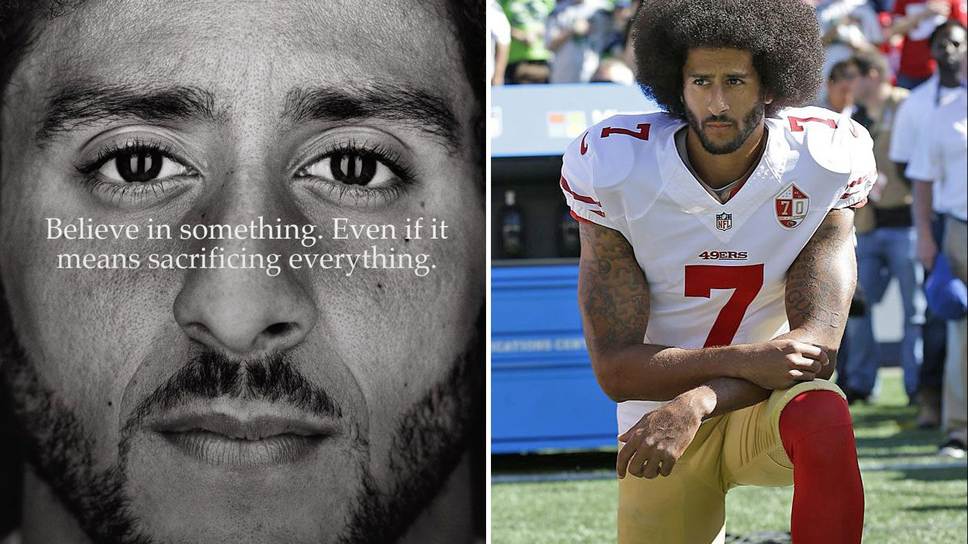 Banished NFL star Colin Kaepernick revealed in surprise new Nike ad campaign