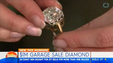 Diamond ring bought for $17 in a garage sale sells for $1.1million