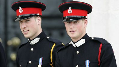 William and Harry attend The Sovereign's Parade at the Royal Military Academy at Sandhurst in 2006.