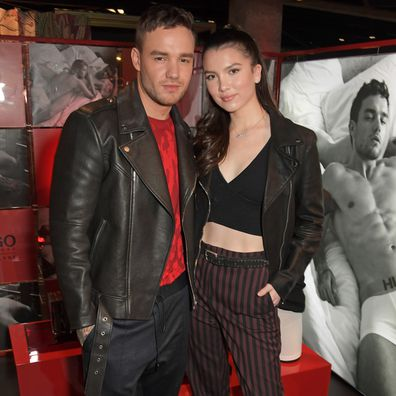 Liam Payne and Maya Henry attend Hugo X Liam Payne Bodywear Campaign Party at Flannels on December 4, 2019 in London, England.