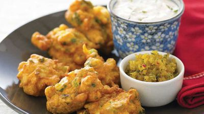 """Recipe: <a href=""""http://kitchen.nine.com.au/2016/05/13/11/27/vegetable-fritters"""" target=""""_top"""">Vegetable fritters</a>"""