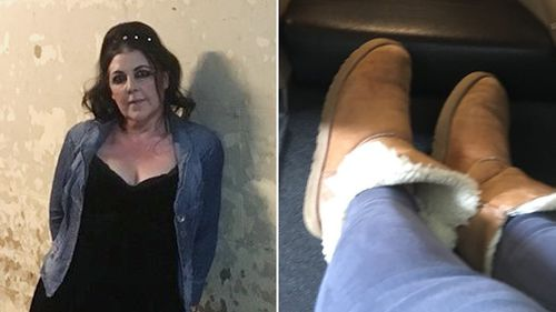Human League vocalist Joanne Catherall said she was refused entry to a Qantas lounge on the basis she was wearing UGG boots. (Twitter/@Lubycat)