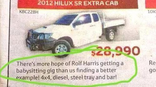 Toyota Rolf Harris ad backfires