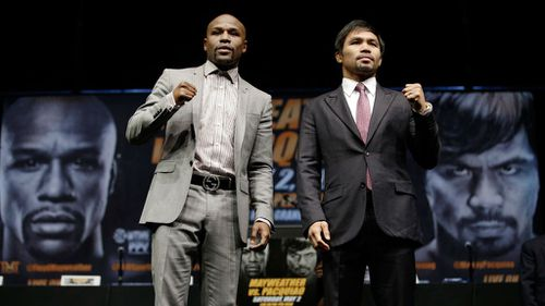 Floyd Mayweather and Manny Pacquaio.