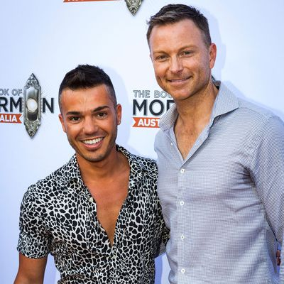 <p>Anthony Callea and Tim Campbell</p> <p>Married for more than two years. Together for nine years.</p>
