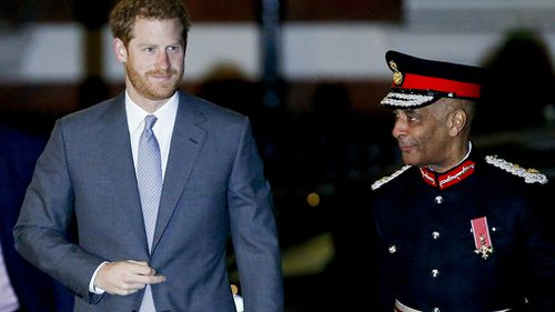 Prince Harry attended London Fire Brigade's annual Christmas carols even overnight. (AAP)