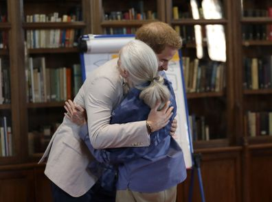 Prince Harry meets Dr Jane Goodall at Windsor Castle