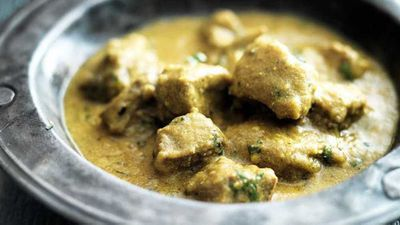 "Recipe: <a href=""http://kitchen.nine.com.au/2017/08/10/14/58/lamb-with-cardamom-and-yogurt"" target=""_top"">Lamb with cardamom and yogurt (lamb dhaniwal korma)</a>"