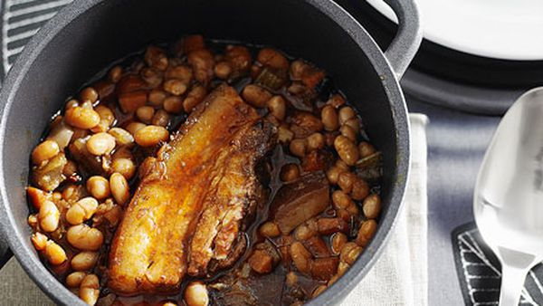 Pork and white beans