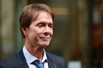 Sir Cliff Richard outside the High Court in 2018