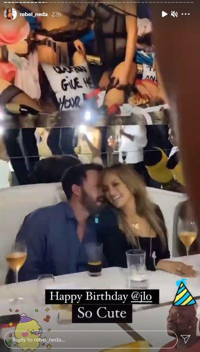 Jennifer Lopez celebrates 52nd birthday with Ben Affleck in St Tropez.