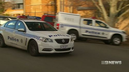 Police arrested the accused at the college following the alleged stabbing. Picture: 9NEWS