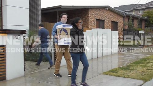 Up to 10 people were involved in the raids. Picture: 9NEWS