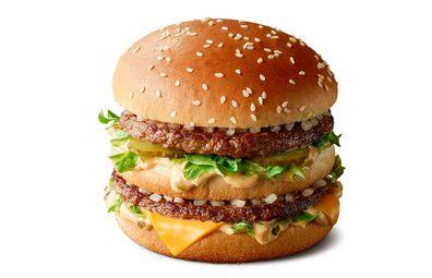 McDonald's Big Mac burger, white background