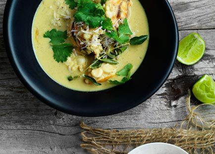 Lobster in coconut broth with Indian aromatics