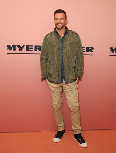 Model Kris Smith at the Myer spring/summer '18 show