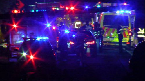Three men were seriously injured in an overnight head-on crash northwest of Melbourne.