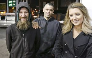 Couple and homeless man accused of setting up crowdfunding campaign 'predicated on a lie'