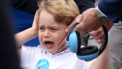 Earmuffs helped calm Prince George.