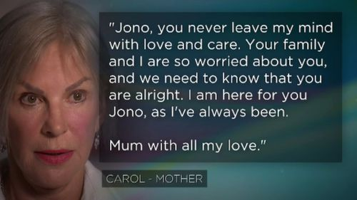 The fugitive's mother has issued a message.