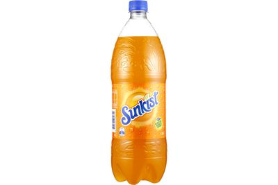 Sunkist: 11.8g sugar per 100ml