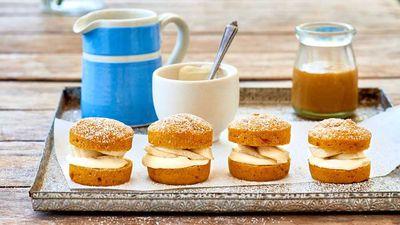 """Recipe: <a href=""""https://kitchen.nine.com.au/2017/05/24/12/49/butternut-butterscotch-cakes"""" target=""""_top"""">Butternut butterscotch cakes</a>"""