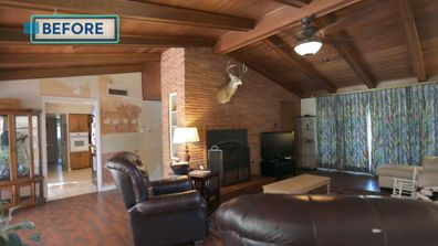 One of a kind Trista Mark renovation Living before