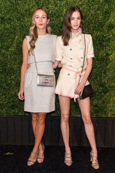 Models Harley Viera-Newton and Laura Love