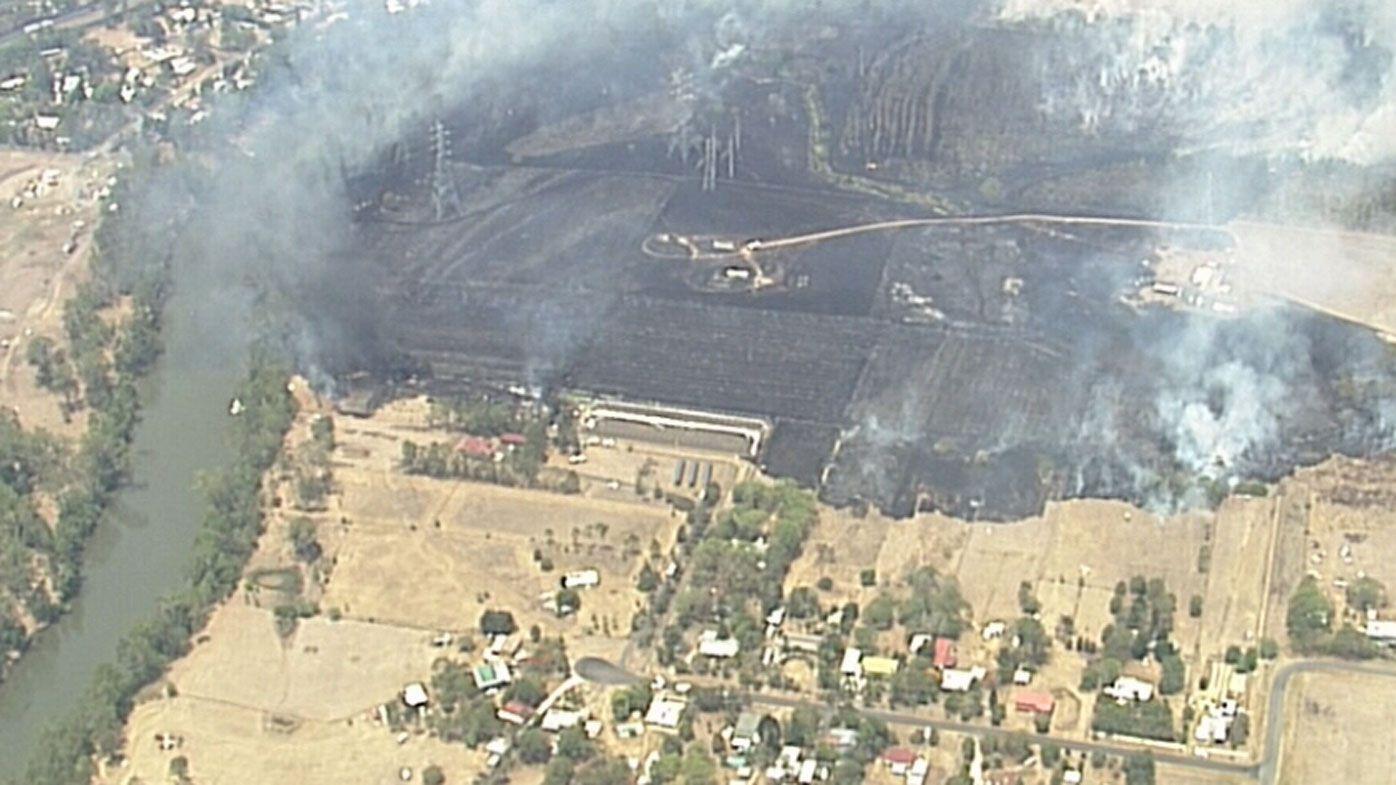 Fire emergency in Queensland city