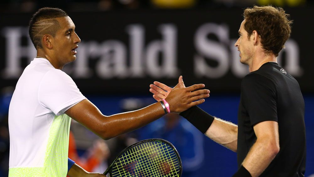 Nick Kyrgios and Andy Murray. (Getty)