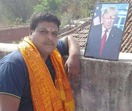 Bussa Krishna has dedicated his life to worshiping US President Donald Trump. Picture: Facebook