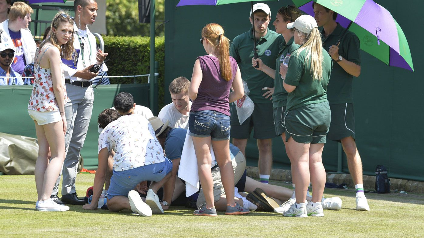 'Distressing scenes': Ball boy collapses during men's round 1 Wimbledon match