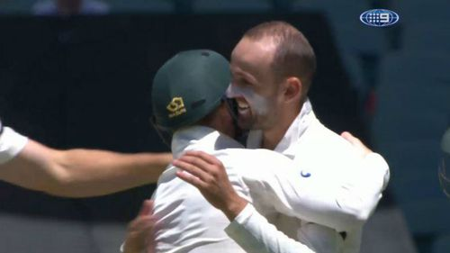 Nathan Lyon was particularly impressive today. (9NEWS)