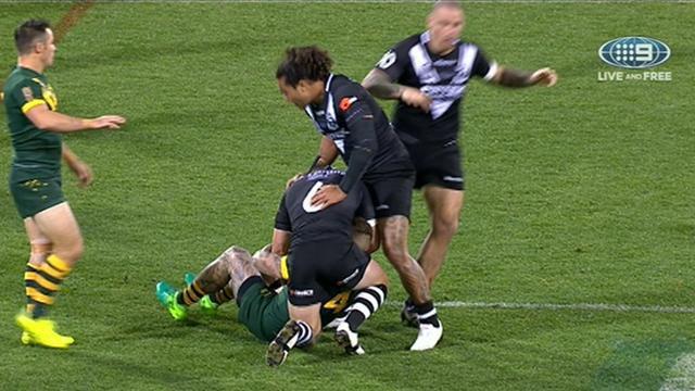 Dugan suffers injury in clash of heads