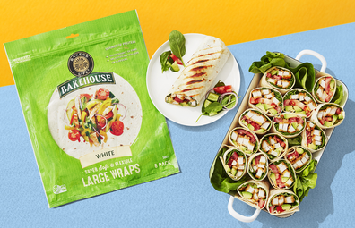 Aldi Bakers Life White Large Wraps 8 pack