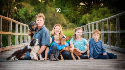 One of the items on the bucket list was for Blaze to have professional photos with his family, the Tunneys. (Facebook)