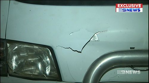 It is believed the man rammed a vehicle with his van off into the gutter. (9NEWS)