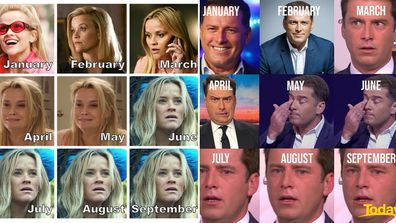Reese Witherspoon and Karl Stefanovic's 2020 Year So Far photo challenge