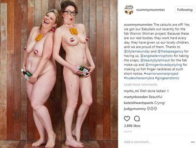 Ta-dah! Ellie and Helen get their kit off and celebrate their mama bods.