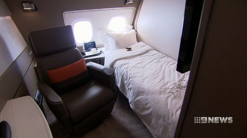Private suites in First Class offer new levels of luxury.