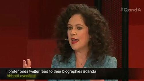 ABC apologises over crude tweet aired on Q&A