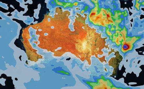 Tomorrow rainfall will become heavier in Queensland, while Sydney is also set for up to 8 millimetres in falls. (Weatherzone)