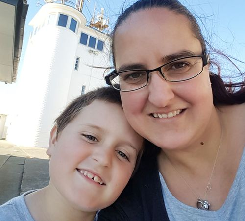 Ms Parkinson and her son Leo, 10.