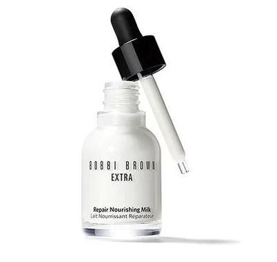 "<a href=""https://www.bobbibrown.com.au/product/14007/44115/skincare/face-moisturiser/extra-repair-nourishing-milk/fh16"" target=""_blank"" draggable=""false"">Bobbi Brown Extra Repair Nourishing Milk 30ml, $128</a>"