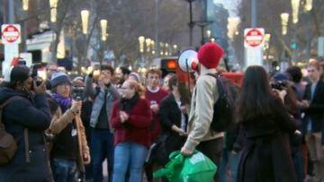 Climate protesters disrupt Melbourne CBD.