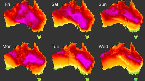 Heatwave to sweep Australia. November 26, 2020.
