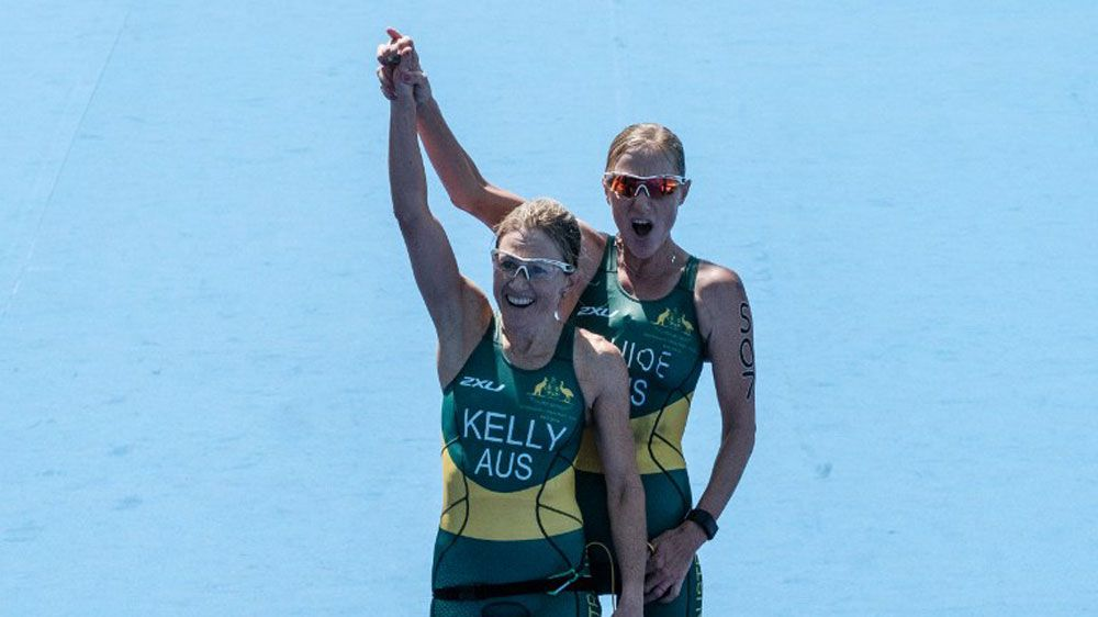 Katie Kelly and Michellie Jones added to Australia's gold medal tally.(AFP)